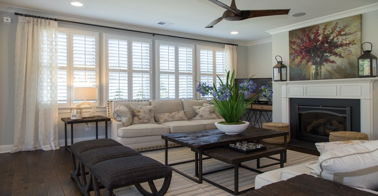 Interior Shutters in Salt Lake City Living Room