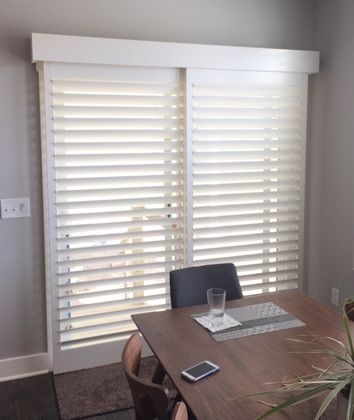 Salt Lake City modern sliding door shutters