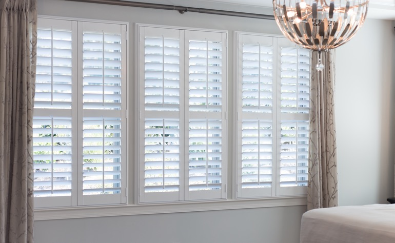 Salt Lake City plantation shutters bedroom