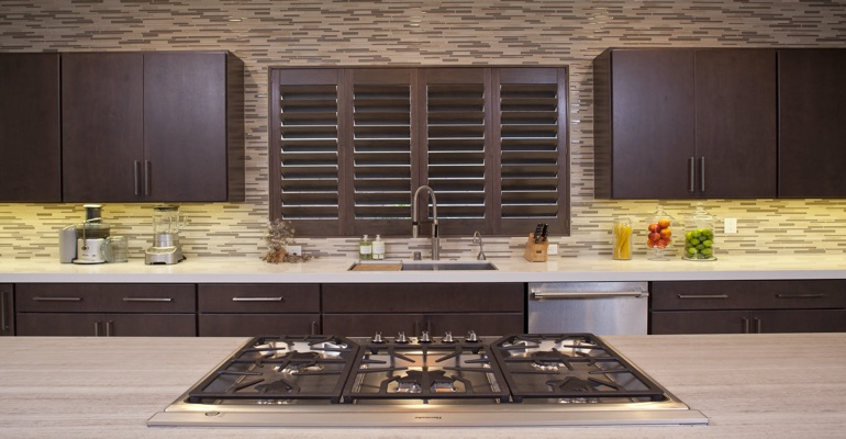 Salt Lake City wood shutter kitchen