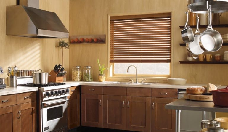 Utah faux wood blinds kitchen