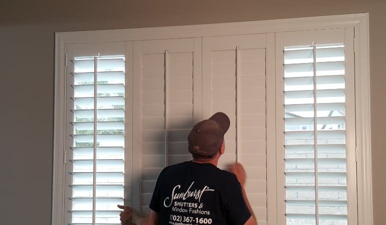 Installation of plantation shutters in Salt Lake City