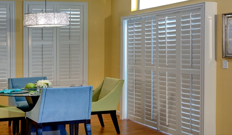 Patio Doors with Plantation Shutters in Salt Lake City