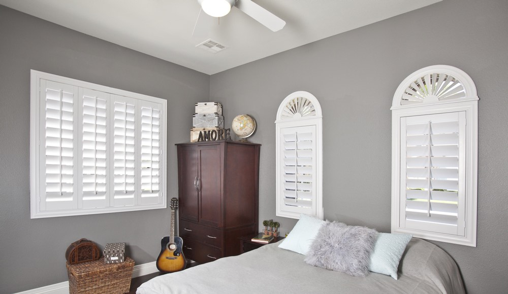 Polywood Shutters In A Salt Lake City Bedroom