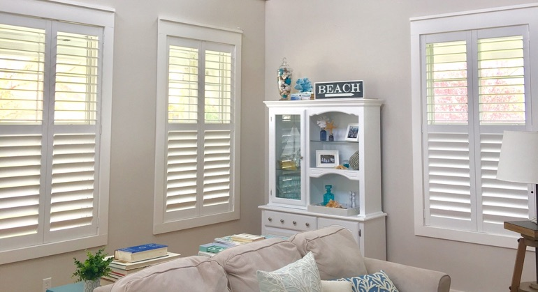 white shutters in Salt Lake City great room
