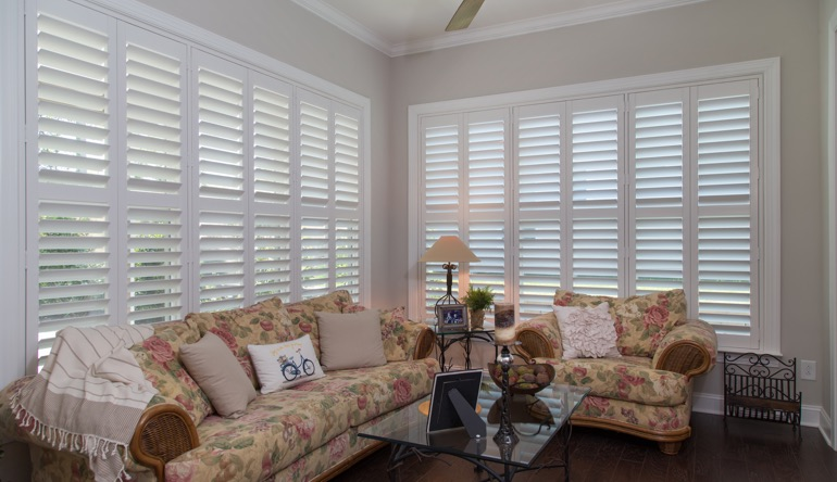 Salt Lake City sunroom interior shutters