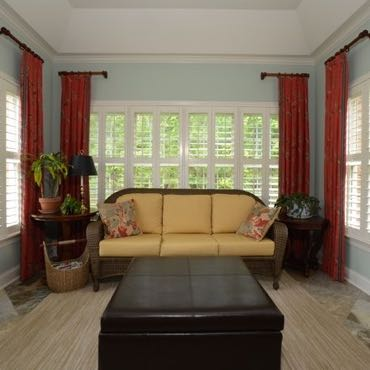 Salt Lake City sunroom polywood shutters.