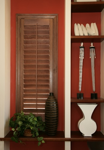 Salt Lake City wood shutter shelving