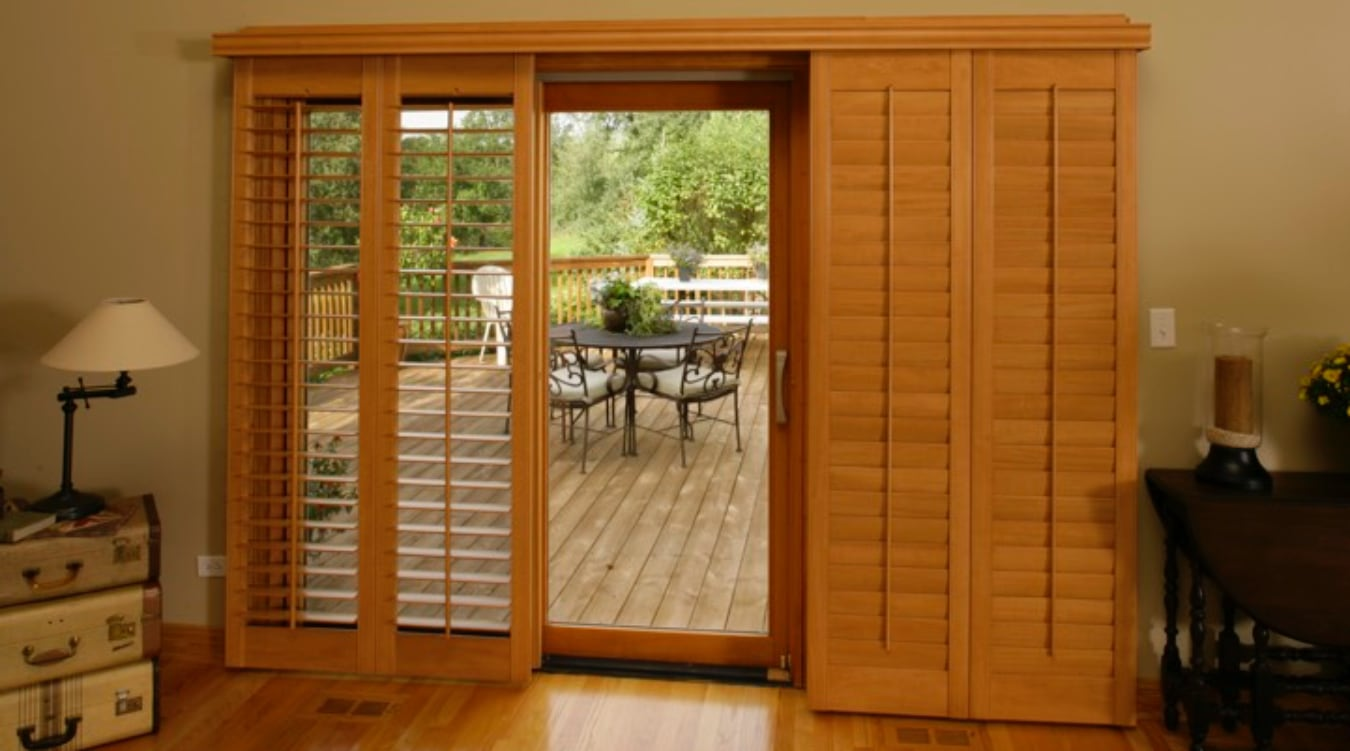 Sliding Glass Door Shutter In Salt Lake City
