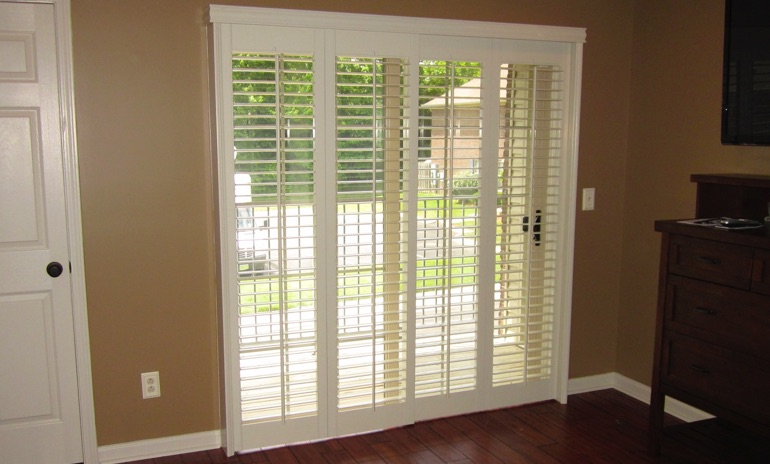 Salt Lake City sliding door bifold shutters in foyer