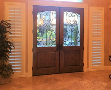 Salt Lake City sidelight window treatment shutter