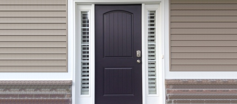 Entry Door Sidelight Shutters In Salt Lake City, Utah