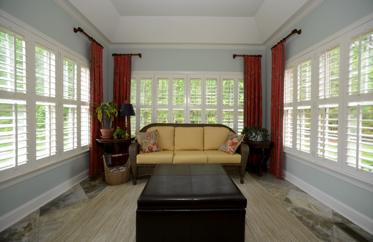 Plantation Shutters In A Salt Lake City Sunroom